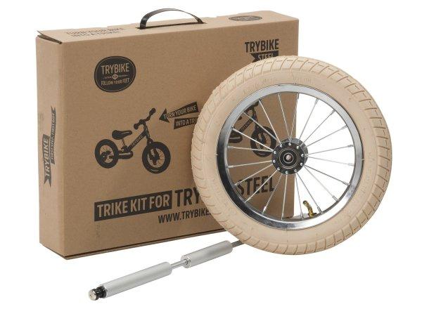 kit 3ème roue pour draisienne trybike comprenant une roue et un axe