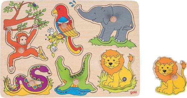 Puzzle sonore animaux de la jungle