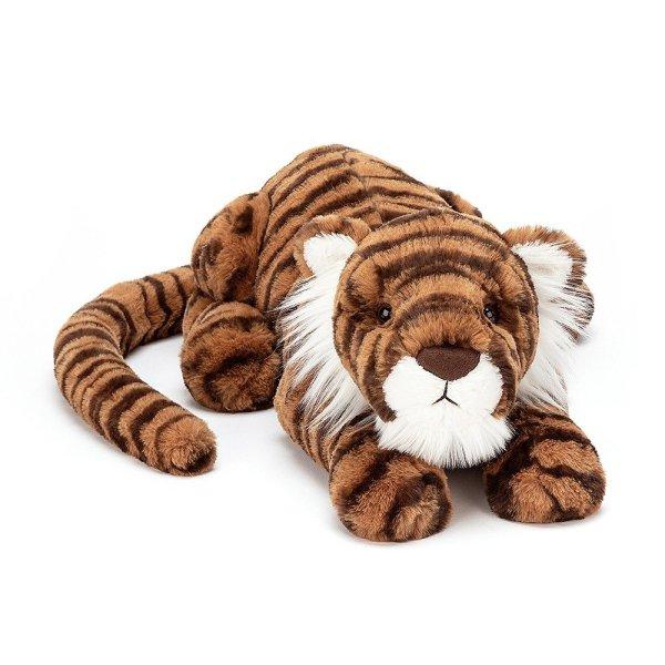 Tia le tigre peluche fauve medium large