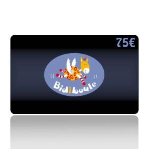 Carte Cadeau de 75€