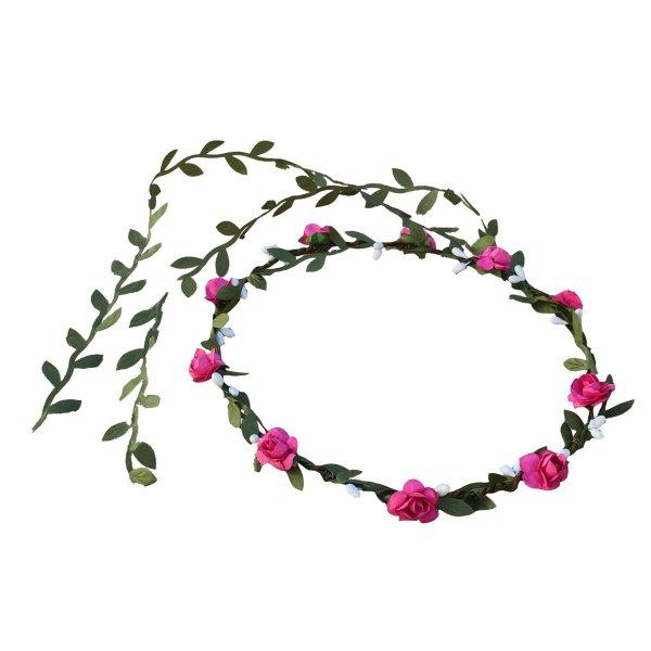 Couronne feuilles fleurs kalid medieval