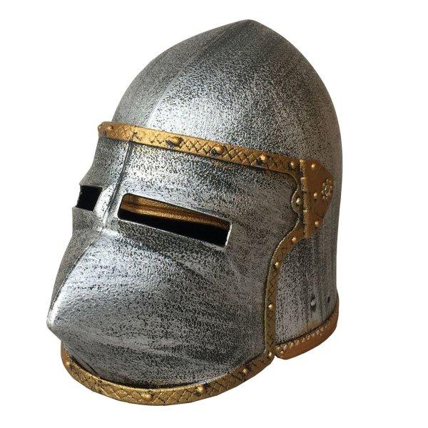 casque chevalier tête de chien kalid medieval