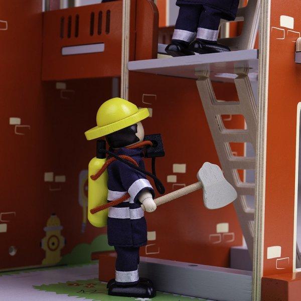 Caserne de Pompiers bois bigjigs