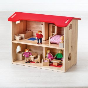 Maison de poupées Bigjigs bois bidiboule