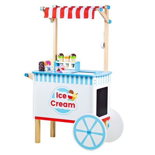 marchand de glaces chariot bois bigjigs