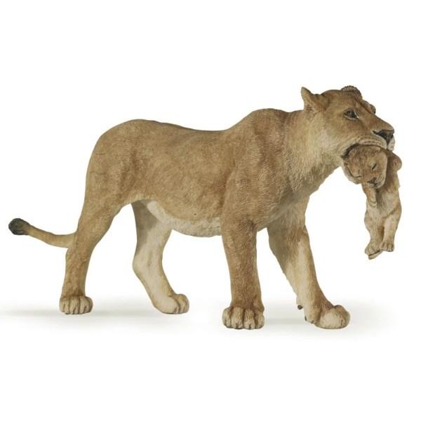Figurine Les animaux du zoo, Lionne avec lionceau, Papo, Bidiboule