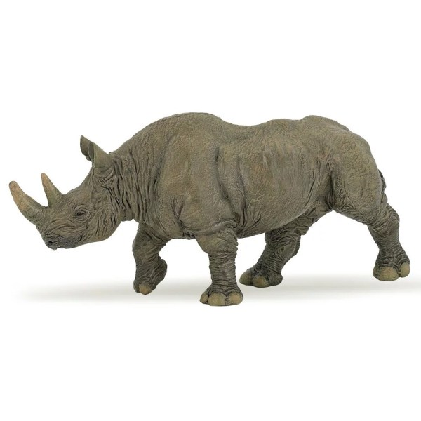 Figurine Les animaux du zoo, Rhinocéros, Papo, Bidiboule