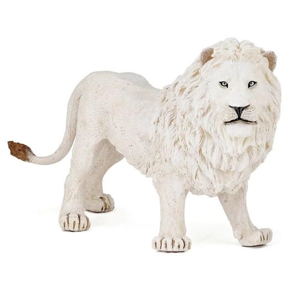 Figurine Les animaux du zoo, Lion blanc, Papo, Bidiboule