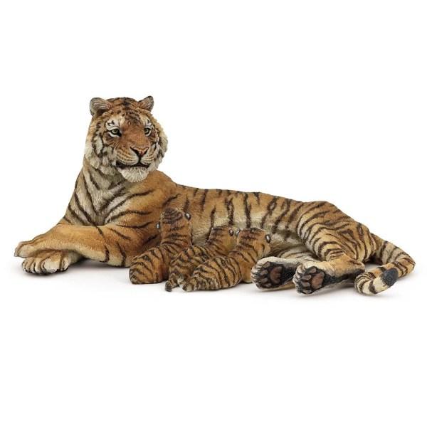 Figurine Les animaux du zoo, Tigresse allaitant, Papo, Bidiboule