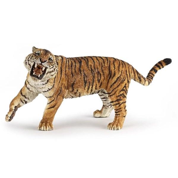 Figurine Les animaux du zoo, Tigre rugissant, Papo, Bidiboule