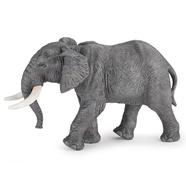 Figurine Les animaux du zoo, Eléphant, Papo, Bidiboule