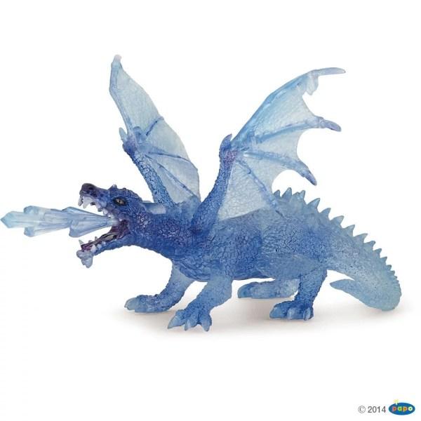 Figurines Fantastique, Dragon cristal bleu, Papo, Bidiboule