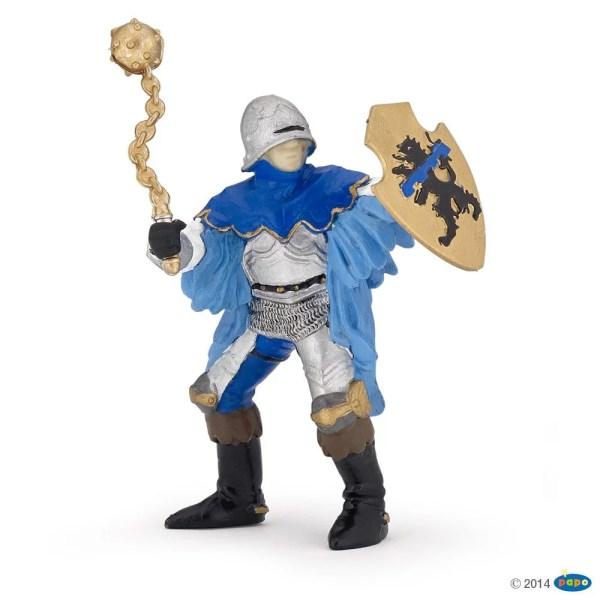 Figurines Chevaliers, Officier à la masse bleu à pied, Papo, Bidiboule