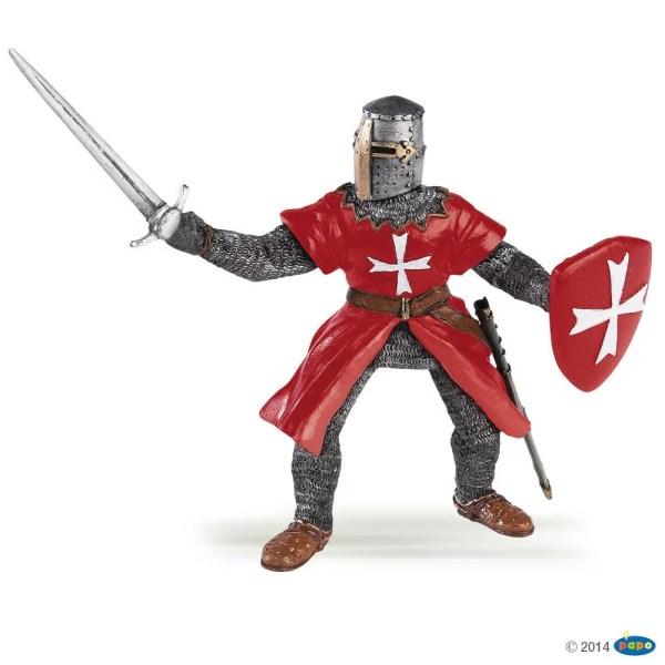 Figurines Chevaliers, Chevalier de Malte à pied, Papo, Bidiboule