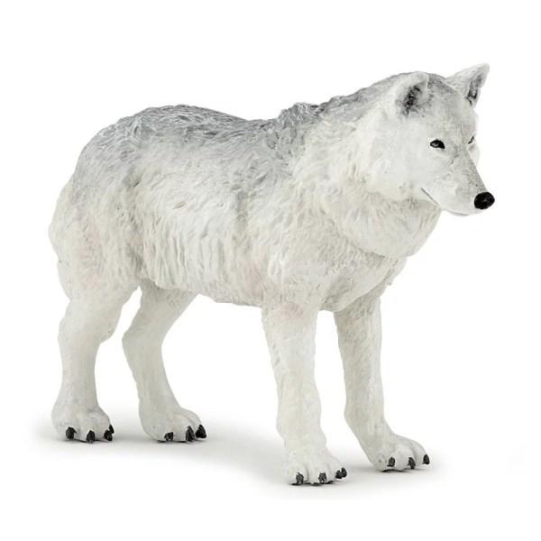 Figurine Les animaux de la forêt, Loup polaire, Papo, Bidiboule