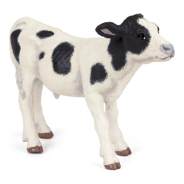 Figurines Animaux de la ferme, Veau noir et blanc, Papo, Bidiboule