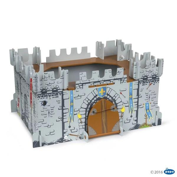 Mon premier château médiéval pont levis fermé, bois, Papo, Bidiboule