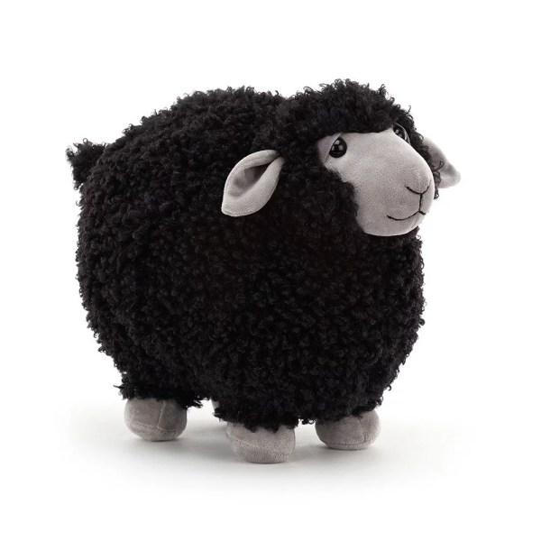Peluche Rolbie le Mouton Mouton noir 28 cm