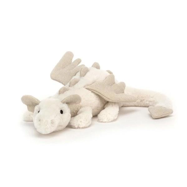 La peluche Dragon des neiges est une peluche très douce, idéale dès la naissance. Bidiboule