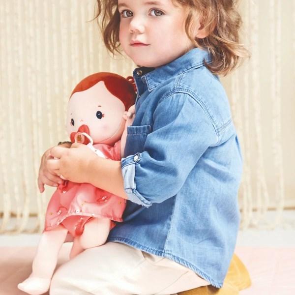 Poupée en tissu Rose de 36 cm qui ressemble à un vrai bébé