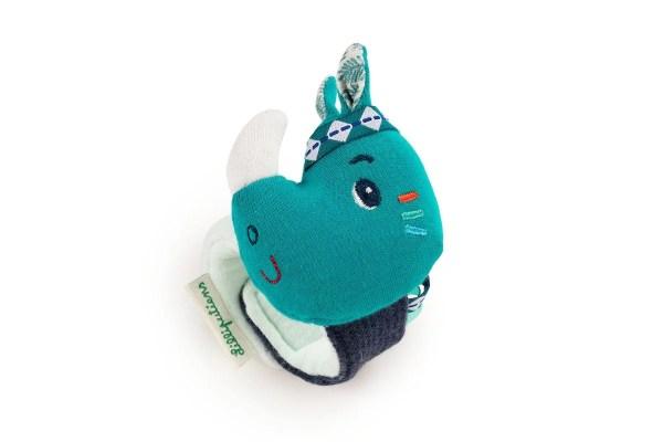 Le bracelet hochet Marius l'hippopotame est un hochet à attacher au poignet en forme d'hippopotame
