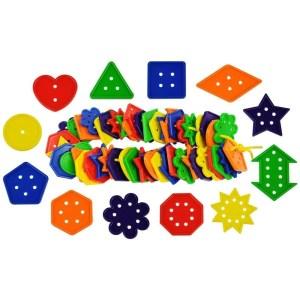 Jeu de laçage boutons formes et nombres