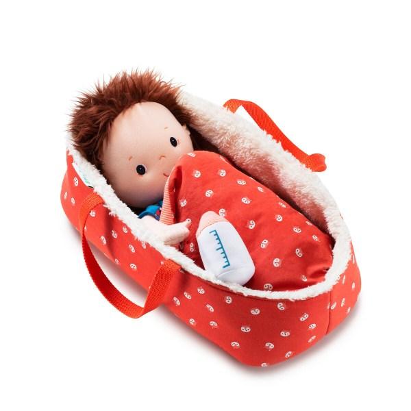 Ce couffin en tissu pour poupon ou poupéeest l'accessoire de poupée indispensable pour emmener partout son poupon ou sa poupée.