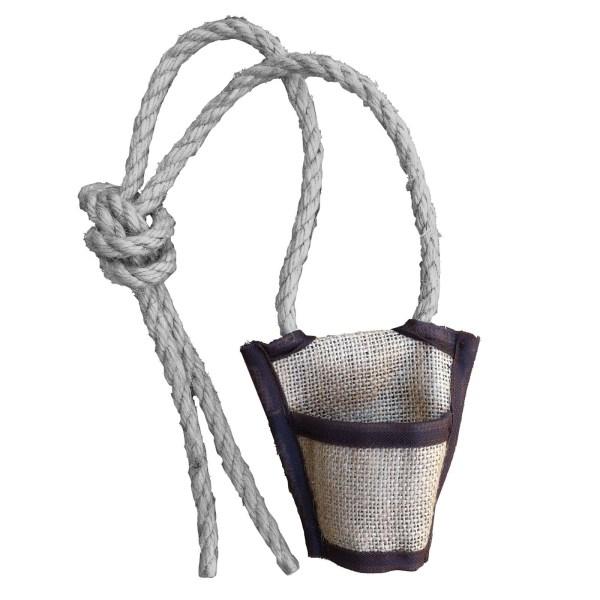 mini fourreau pour lance-pierres en jute avec ceinture en corde