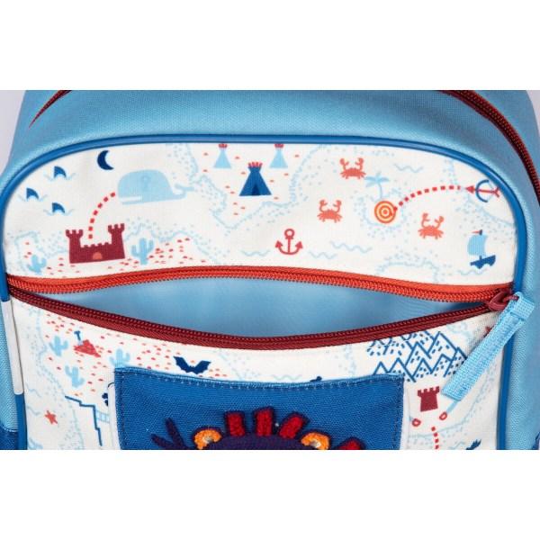 Le sac à dos Jack le pirate est parfait pour aller à l'école ou à la crèche mais est aussi idéal pour la ballade ou le pique-nique !