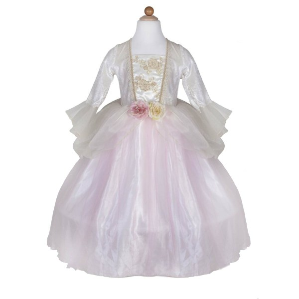 Robe de princesse rose et dorée