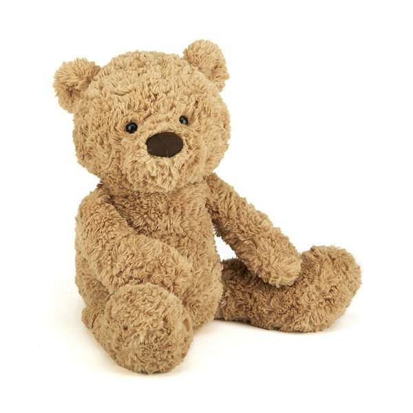 Grâce à son museau pointu, Bumbly viendra vous murmurer plein de secrets à l'oreille. L'ours Bumbly deviendra vite le confident et le doudou qui nous suit partout.