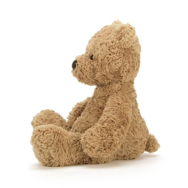 Avec son pelage très doux et sa belle couleur miel, Bumbly bear bercera votre tout petit au moment de s'endormir et l'accompagnera dans toutes ses activités. Laissez vous séduire par ses grosses pattes et son ventre dodu qui donne envie de le cajoler et d'être cajolé !
