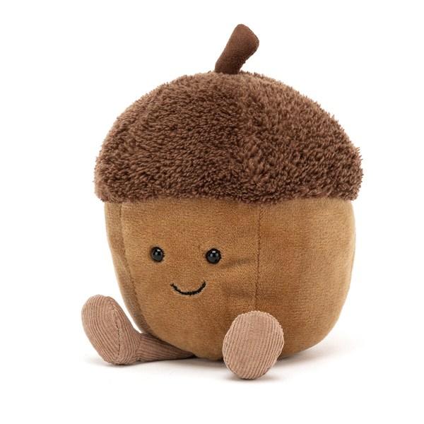 La peluche Gland amusant est une peluche très originale qui convient auxbébés dès la naissance. En forme de gland de chêne, la peluche a une texture très douce.