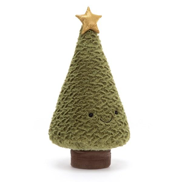 La peluche Sapin de Noël Teddy est une peluche très douce en forme de sapin de Noël qui est parfaite pour les bébésbébés dès la naissance. Ce bel arbre de Noël en fourrure très douce d'un beau vert sapin peut être manipulé par les petites mains qui adoreront presser dessus. Son tronc de couleur marron est en velours côtelé et une jolie étoile d'or scintille à son sommet.