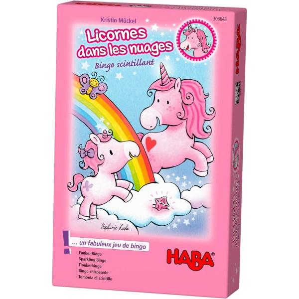 Boite du jeu Licornes dans les nuages – Bingo scintillant