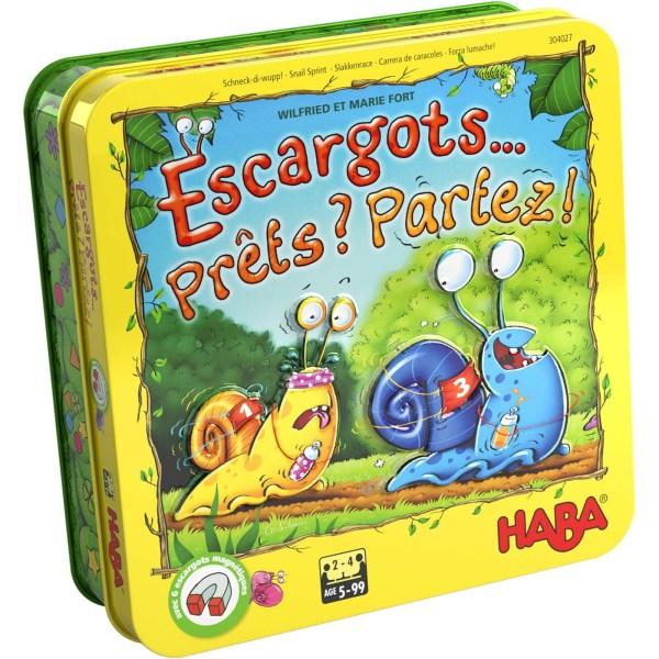 boite en métal du jeu Escargots Prets partez
