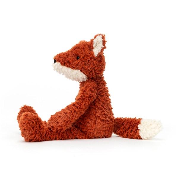 Ses grands bras, ses longues pattes et sa queue peuvent être facilement manipulées par les petits doigts de Bébé. La peluche Renard Smuffle tient bien assis et est prêt à donner plein de câlins !