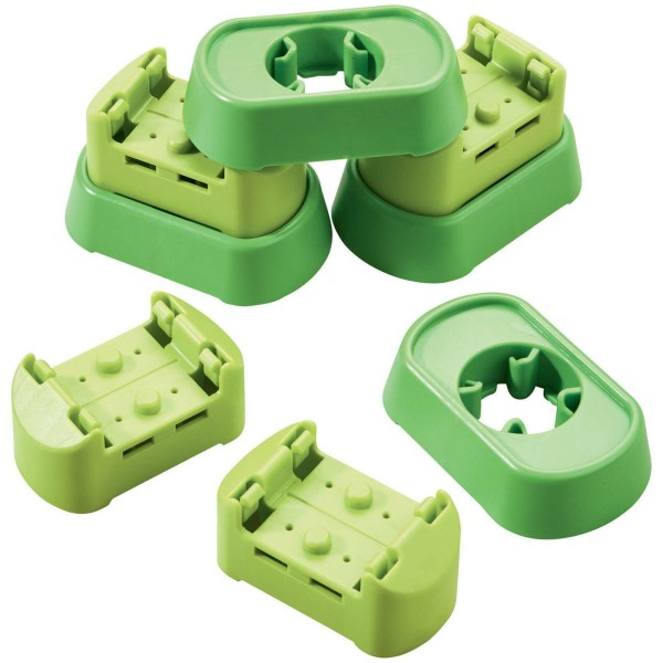 Accessoires Toboggan circuit Kullerbu raccords verts en plastique