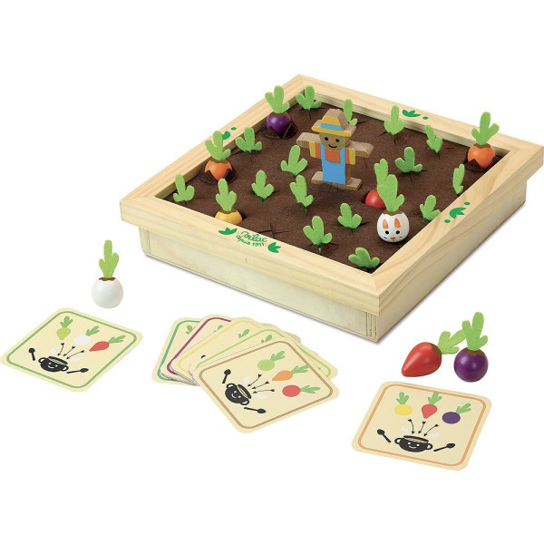 Memotager plateau du jeu avec les cartes et les légumes