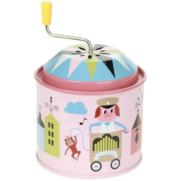moulin musical rose avec cirque