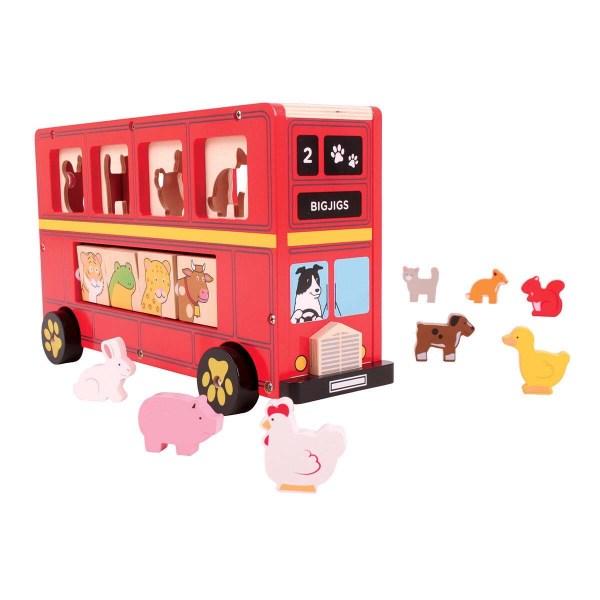 Boîte à formes Bus des animaux