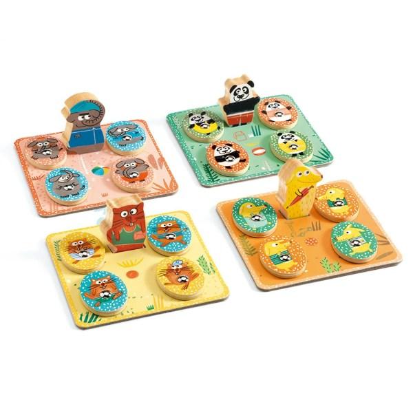 4 cartes de loto du jeu Ludo Park