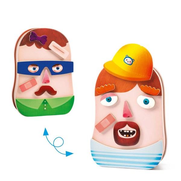 2 côté du jeu magnétique InZeBox Portraito avec 2 personnages