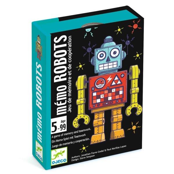 Boite du jeu de cartes Mémo Robots