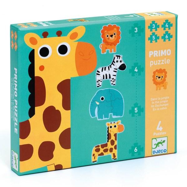 boite des puzzles évolutifs Jungle 3-4-5-6 pièces
