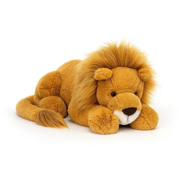 La peluche lion Louie est une magnifique peluche en forme de lion. Toute douce et moelleuse, le roi de la jungle est parfait pour les enfants dès l'âge de 1 an.