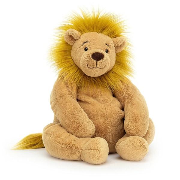 La peluche lion Rumpletum est un bon gros lion très gentil qui convient aux enfants dès l'âge de 1 an. Avec ses grosses pattes et sa fourrure très douce, il aime bien donner des câlins et en recevoir !