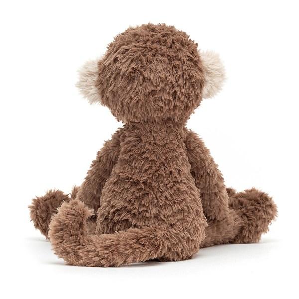 Ce gentil doudou tout droit issu de la jungle accompagnera Bébé partout et deviendra vite le copain idéal dont on ne se sépare plus. La peluche singe Smuffle Monkeyfera un très beau cadeau de naissance qui continuera d'accompagner Bébé pendant toute son enfance.