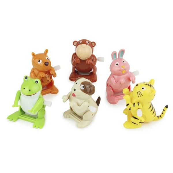 animal sauteur différents modèles kangourou, singe, lapin rose, grenouille, chien et tigre