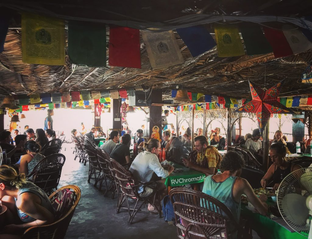 Inside a Cafe in Rishikesh